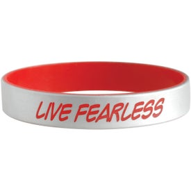Silver Silicone Bracelets with Your Slogan