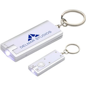 Imprinted Simple Touch LED Key Chain
