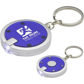 Imprinted Round Simple Touch LED Key Chain