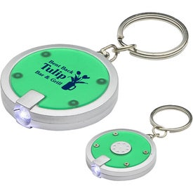 Logo Round Simple Touch LED Key Chain