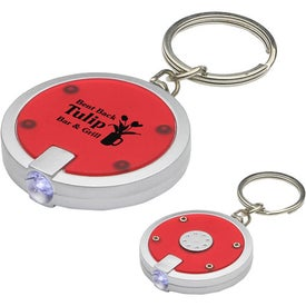 Round Simple Touch LED Key Chain with Your Slogan