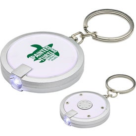 Monogrammed Round Simple Touch LED Key Chain