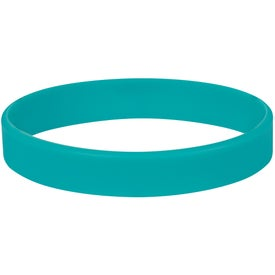 Single Color Silicone Bracelet Imprinted with Your Logo