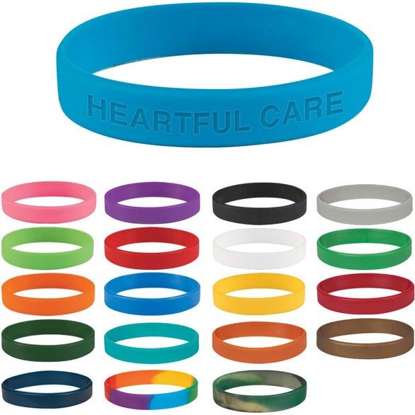 Single Color Silicone Bracelet Customized