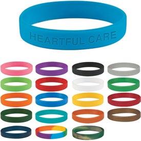 Customized Single Color Silicone Bracelet