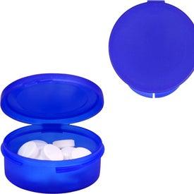 Logo Single Compartment Plastic Pill Case