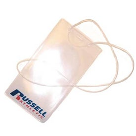 """Single Pocket Pit Pass with 36"""" Clear Loop Lanyard"""