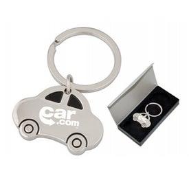 Advertising Single Ring Auto Keychain
