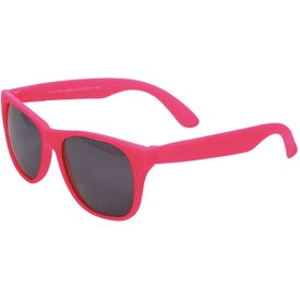 Single Tone Matte Sunglasses Imprinted with Your Logo