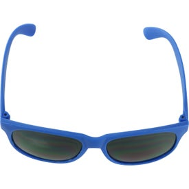 Branded Single Tone Matte Sunglasses
