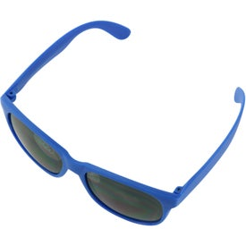 Single Tone Matte Sunglasses Branded with Your Logo