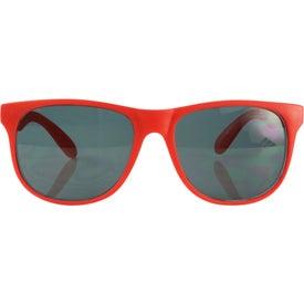 Branded Single Tone Matte Sunglasses