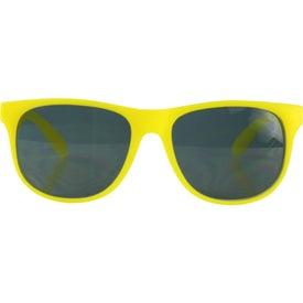 Monogrammed Single Tone Matte Sunglasses