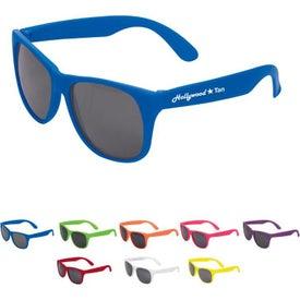 Imprinted Single Tone Matte Sunglasses