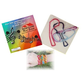 Six Squiggles Shapely Rubber Band (Full Color)