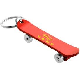 Skateboard Bottle Opener Key Chain Branded with Your Logo