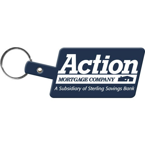 Slanted Rectangle Key Tag