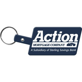 Slanted Rectangle Key Tag for Your Company