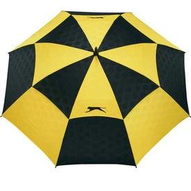Slazenger Logo Manual Vented Umbrella Printed with Your Logo