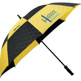"Slazenger Logo Manual Vented Umbrella (62"")"