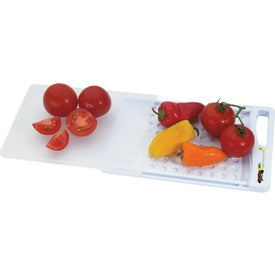 Imprinted Slide N' Strain Cutting Board
