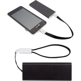 Slim Aluminum Power Bank Charger with Micro USB