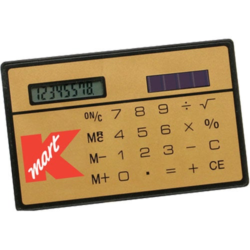 Gold Slim Credit Card Calculator Branded