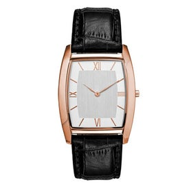 Promotional Polished Rose Gold Slim Styles Unisex Watch