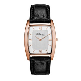 Polished Rose Gold Slim Styles Unisex Watch