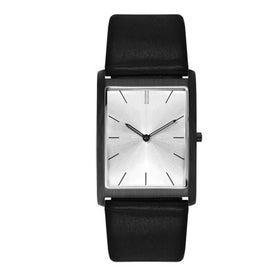 Monogrammed Brushed Black Slim Styles Unisex Watch
