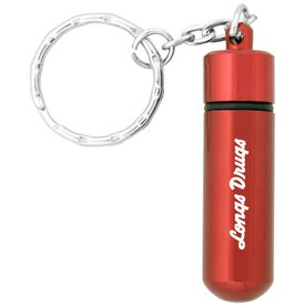 Small Aluminum Pill Tube Keychain for Your Organization
