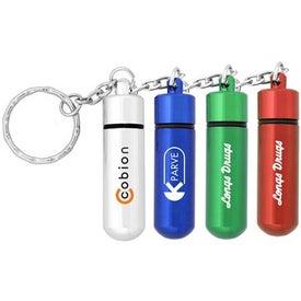 Small Aluminum Pill Tube Keychain