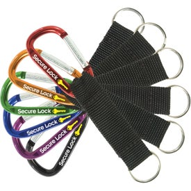 Small Carabiner with Nylon Strap Giveaways