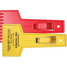 Company Small Ice Scraper with Visor Clip