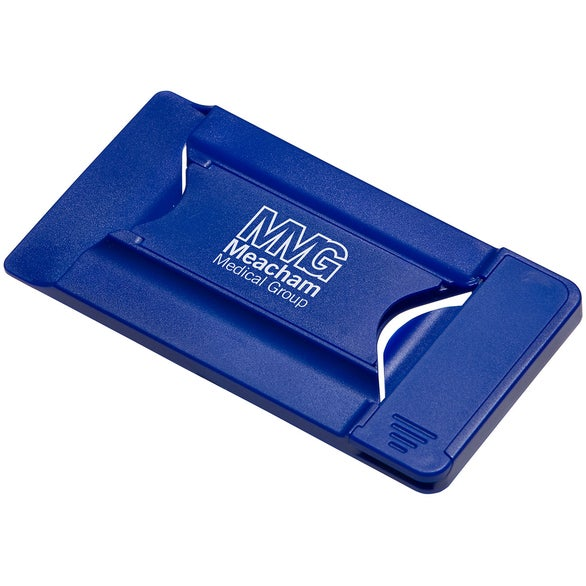 Blue Smart Mobile Wallet with Phone Stand and Screen Cleaner