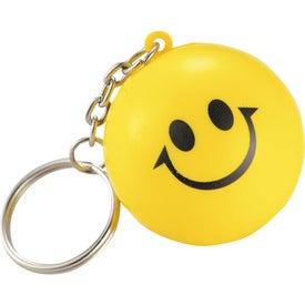 Imprinted Smile Keychains