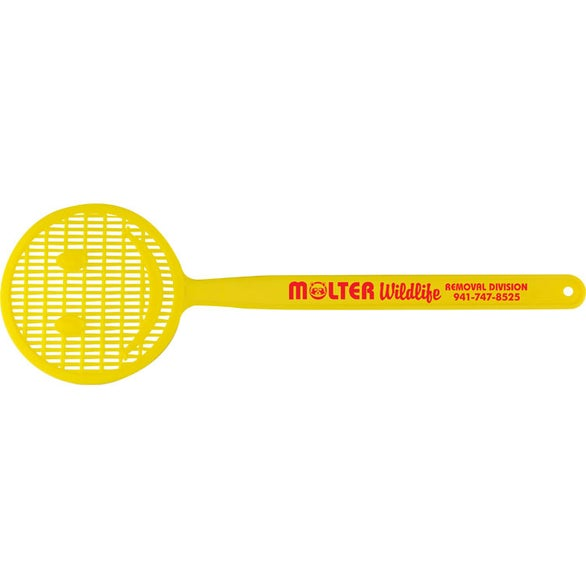 Yellow (PMS 108) Smiley Flyswatter