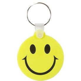 Imprinted Smiley Key Chain
