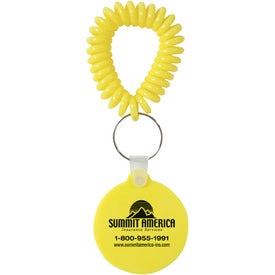 Smiley Key Fob with Coil for Your Company