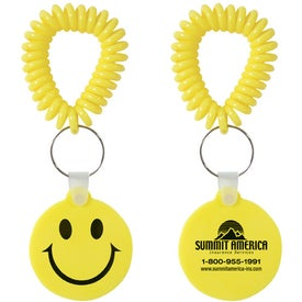 Smiley Key Fob with Coil