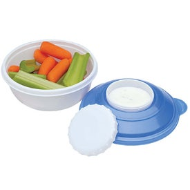 Imprinted Snack and Dip Container