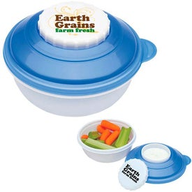 Snack and Dip Container Imprinted with Your Logo