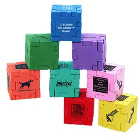 Snafooz Single Color Foam Puzzle Cube