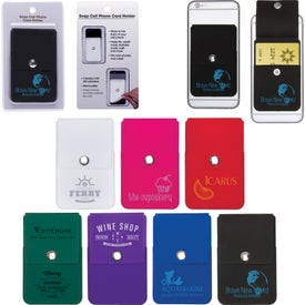 Snap Cell Phone Card Holder with Packaging