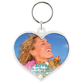 Snap-In Heart Keytag