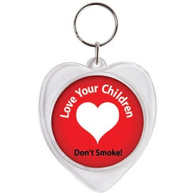 Snaps-In Heart Keytag