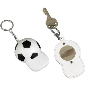 Monogrammed Soccer Bottle Opener Key Chain