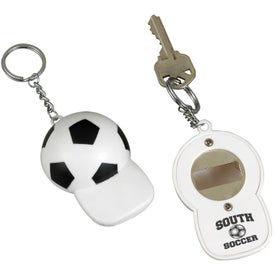 Soccer Bottle Opener Key Chain