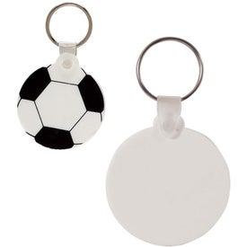 Monogrammed Soccer Key Chain