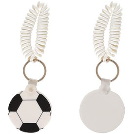Customized Soccer Key Fob with Coil
